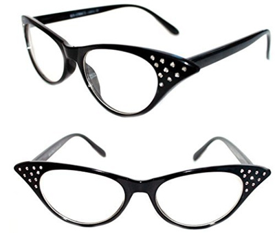 8ef80d0b3b Qoo10 - Womens 50s Vintage Clear Lens Cat Eye Black Eye Glasses Pin Up  Retro R...   Men s Bags   Sho.