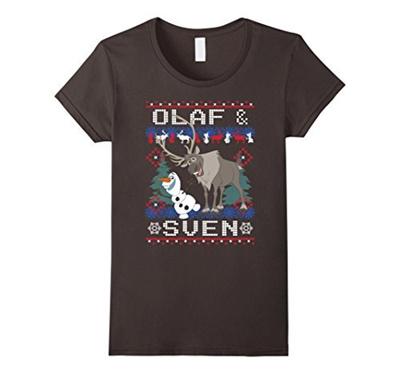 Qoo10 Womens Disney Frozen Olaf Sven Ugly Christmas Sweater T