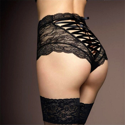 e13b3f8e0f6a Qoo10 - Womens Sexy Lace Underwear Hollow Out Panties High Waist Lingerie :  Underwear & Socks