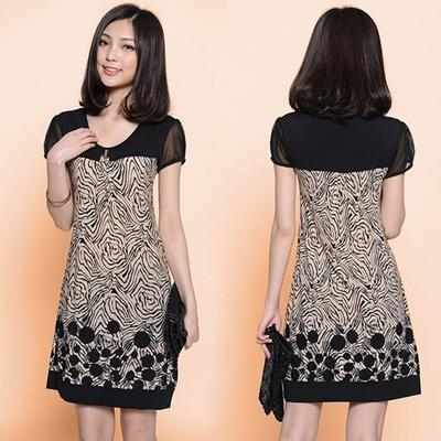 Qoo10 Womens Short Sleeve Cotton Printed Loose Long Tops T Shirt
