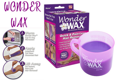 Wonder Wax Microwavable Waxing Kit Painless Hair Removal Skin Care