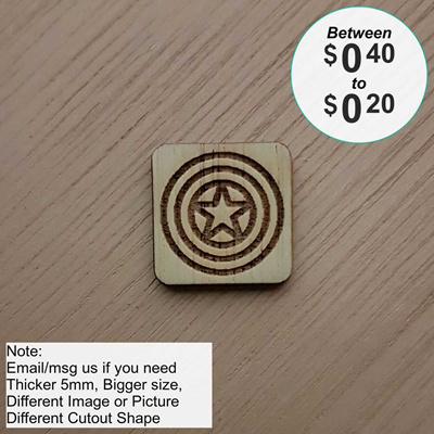 Qoo10 Wooden Tile Stationery Supplies