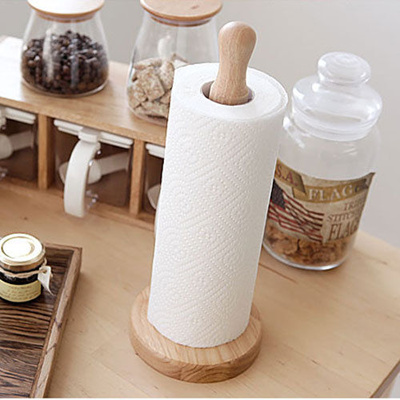 towel holder stand. Wooden Kitchen Roll Paper Towel Holder Rack Stand Dispenser