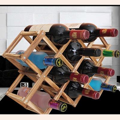Wooden Red Wine Rack Whiskey Holder Mount Bar Display Shelf Folding Wood  Wine Rack Alcohol Care Cont