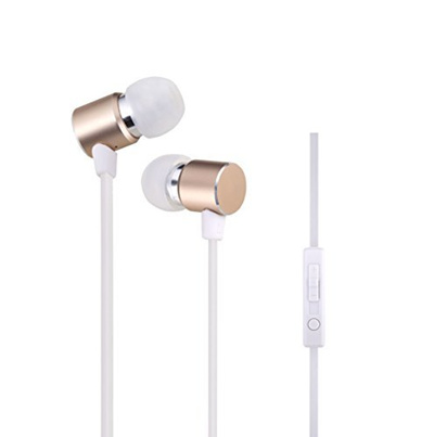 Woozik B820 In-Ear Noise Isolating Heavy Bass Headphones with Mic, Volume  Control and Answer Button