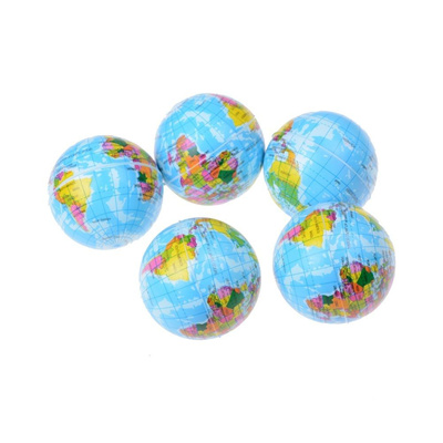 Massage & Relaxation Helpful Foam Rubber Massage Ball World Map Foam Earth Globe Hand Wrist Exercise Stress Relief Squeeze Soft Foam Ball New Sale Health Care