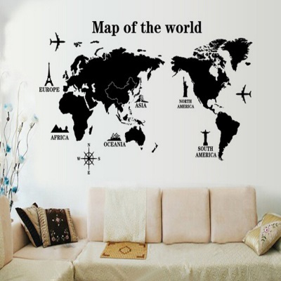 Qoo10 world map in words removable vinyl wall sticker decal mural world map in words removable vinyl wall sticker decal mural art home decor gumiabroncs Image collections