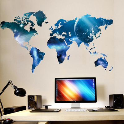 World Map Removable Wall Sticker.Qoo10 World Map Removable Vinyl Wall Sticker Wallpaper Home Office