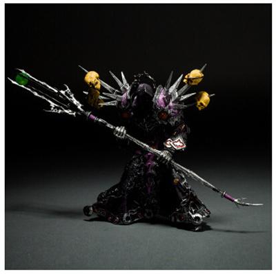 World of Warcraft Undead Warlock model generation hand to do ornaments toy  dolls Undead Warlock魔兽世界1