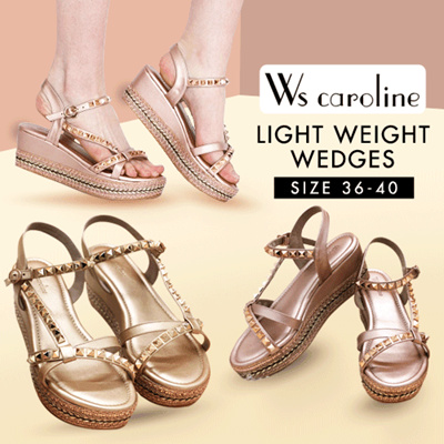 WS Caroline Light Weight Stud Wedge Collection 2019 New Arrival 🖤🖤  PREMIUM BRAND High Quality 🖤