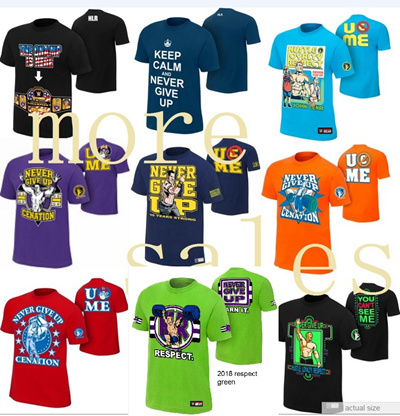 0b59883e Qoo10 - WWE John Cena Rise T-Shirt Never give up You cant see me ...