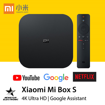 Xiaomi Mi Box S with 4K HDR International Version - BLACK EU PLUG