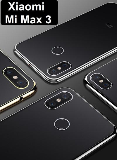 the best attitude dd016 3341b [xiaomi]★ Xiaomi Mi Max 3 Ultra Slim Shell Plated Border Case Casing Cover  / Tempered Glass Screen Protector