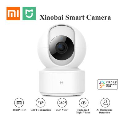Xiaomi Mijia xiaobai 1080P HD Wireless IP Camera、 360 Angle CCTV WiFi、  Night Vision Webcam