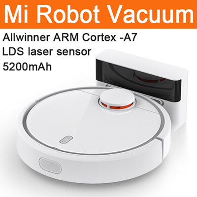 XIAOMI Robotic Vacuum Cleaner Mi Robot Vacuum Room Robot 5200mAh NIDEC  Motor Suction LDS 12 Sensors APP Control White