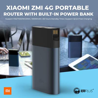 XiaomiXiaomi ZMI 4G WiFi Router with 10000mAh Power Bank MF885