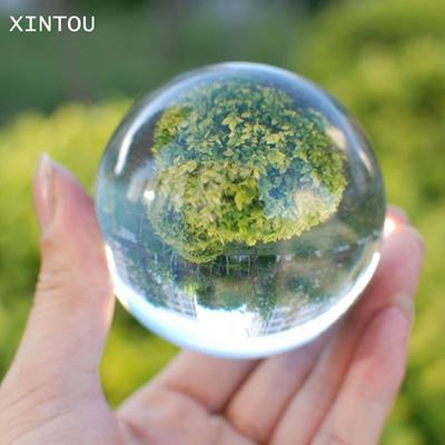 XINTOU 60mm Photography Crystal Ball Ornament FengShui Globe Sphere  Divination Quartz Magic Glass Ba