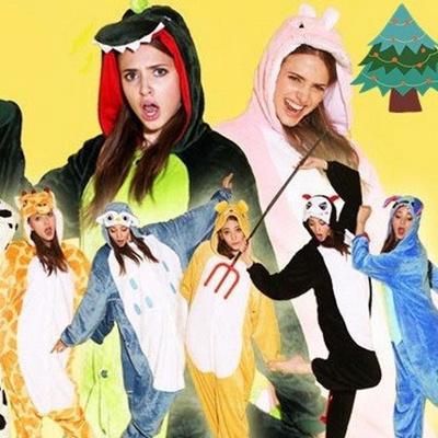 a07612552 Xmas Christmas party Hello Kitty Couple Unisex Adult Cosplay Kigurumi Animal  Anime Costume Pajamas Pyjamas Onesie