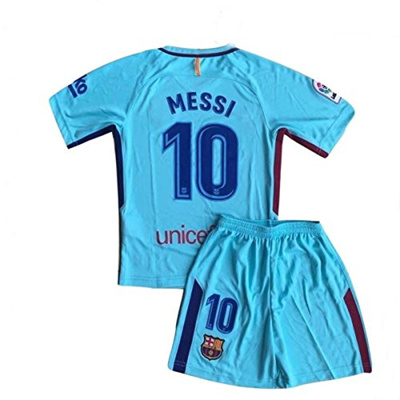 newest 65e5c 2c22b Xpbowy Youth Messi Jersey #10 Boys Barcelona Jerseys Shorts for Kids Blue  Size (11-13 Years Old)