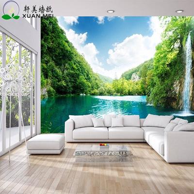 Xuan Mei Large Wallpaper Seamless Wall Paper Living Room Sofa Tv Background Wall Custom Mural Lake S