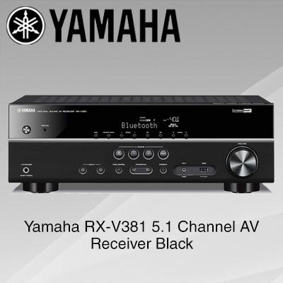 Qoo10 yamaha rxv381 5 1 channel av receiver black for Yamaha tv receiver