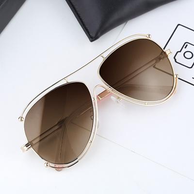 6ed3631723 Qoo10 - Yang Glasses Sunglasses female tide 2017 star new round face  polarizer...   Fashion Accessor.