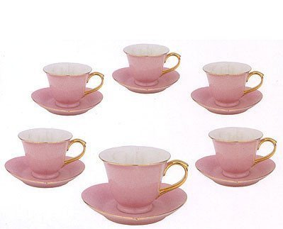 Qoo10 - (Yedi House) Inside Out Heart: Cup & Saucer 5 oz- Pink/Gold ...