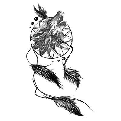 6cb6902153d36 Qoo10 - (Yeeech) Yeeech Temporary Tattoos Sticker Wolf Dream Catcher Designs  F... : Cosmetics