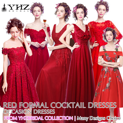 Qoo10 - Red gown : Women\'s Clothing