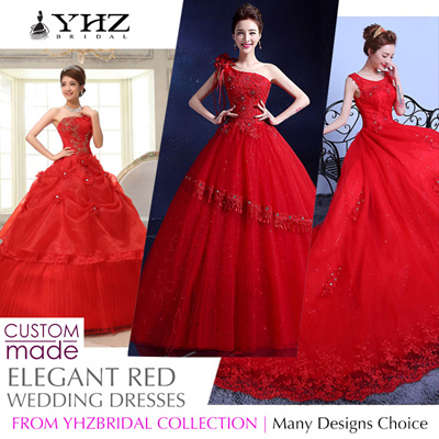 Red Wedding Dresses.Yhzbridalroyal Red Bridal Gown Plus Size Beaded Lace Court Train Ball Gown Wedding Dresses Sleeves Gowns