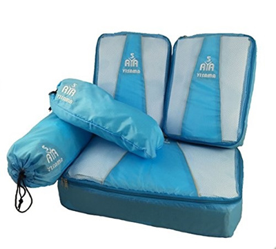 c1e6e763dcef YISAMA Packing Cubes,Luggage Organiser, Suitcase Organiser,Packing Bags 5  Pcs Set With Shoes Bag