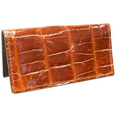 Genuine American Alligator Leather Checkbook Cover Handmade