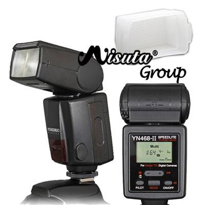Yongnuo YN468 II YN 468 II YN-468 II TTL ETTL Flash Speedlite For Canon EOS  600D 550D 500D T3i T2i Camera with Free Diffsuer