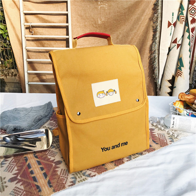089d1fcc2da8 Youth Backpack Women Preppy School Bags for College Student Canvas Travel  Bags Girls Yellow Bag Purse Backpack Mochila Wholesale