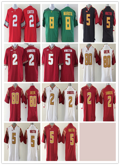 buy popular ca44b 38b46 Youth Florida State Seminoles Jersey Red Kids 2 Deion Sanders 5 Jameis  Winston 80 Rashad Greene Football Jersey College Jersey