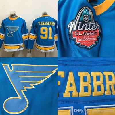 new product 79327 e2509 Youth Kids #91 Vladimir Tarasenko Jersey, 2017 Winter Classic Premier  Jersey St. Louis Blues 100% St