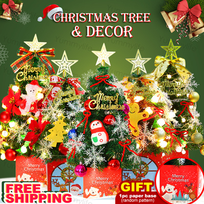 Black Friday Christmas Decorations.Yummy Life Black Friday Christmas Tree Full Set Decor Accessory 1pc Gift 45cm 60cm Table Bedroom Office