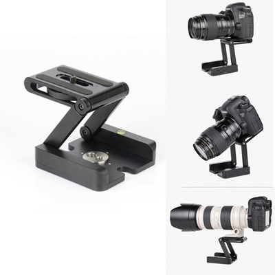 Z Type Tripod Camera Folding Photography Studio Flex Tilt Head Bracket  Stand New (Color: Black)