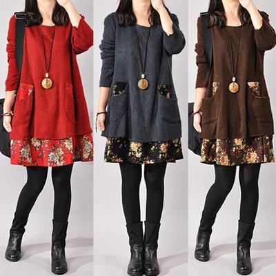 635c64ed984b1f Qoo10 - ZANZEA S-XXXXL Ladies Jumper Pullover Top Loose Pocket Knitted  Sweater...   Women s Clothing