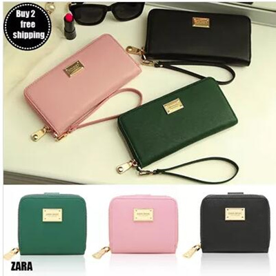 eeecc2df2b ZARA Basic Collection New Arrivals Women Saffiano Effect  Wallet/Purse/Notecase