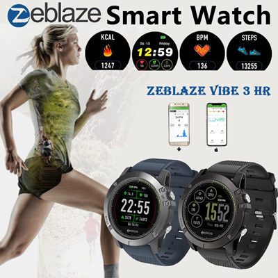 Zeblaze Vibe 3 Hr Smartwatch Ip67 Waterproof Wearable Device Heart Rate Monitor Ips Color Display