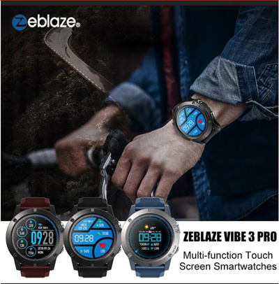 Zeblaze Vibe 3 Pro Hr 4 Hybrid Smart Watch 33 Month Standby Time 24h All Weather Monitoring Watch Fl