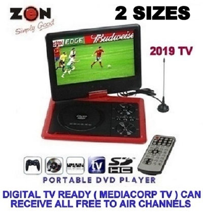 ZEN DVD PORTABLE PLAYER NS-958 DVB-TV NS-1129 DVB-TV ( DIGITAL TV CAN  RECEIVE ALL FREE TO AIR CHANN