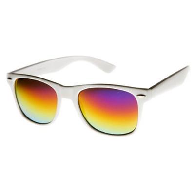 2c494760f8d Qoo10 - zeroUV - Hipster Fashion Flash Color Mirror Lens Horn Rimmed Style  Sun...   Fashion Accessor.