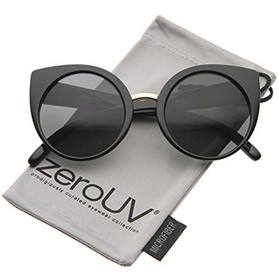 38b2ec68766c1 Qoo10 - zeroUV - Womens High Fashion Oversize Round Lens Cat Eye Sunglasses  55...   Men s Bags   Sho.