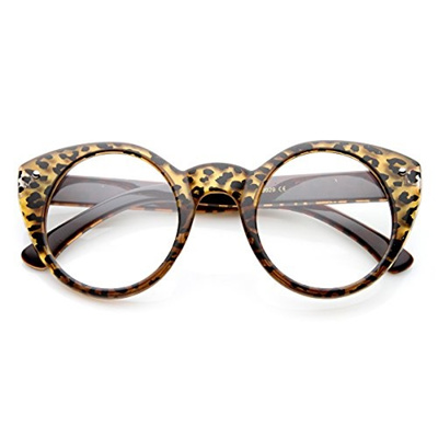 3e4c78828ba4 Qoo10 - ZeroUV zeroUV - Round Cat Eye Clear Fashion Frame Glasses (Brown-Cheet...    Fashion Accessor.