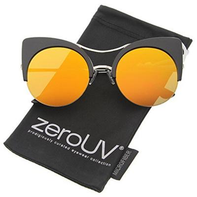 16b921269923a Qoo10 - ZeroUV zeroUV - Womens Oversized Half Frame Semi-Rimless Flat Lens  Rou...   Fashion Accessor.