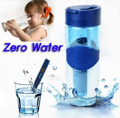 Qoo10 Zerowater Travel Filter Bottle With Replacement Filters