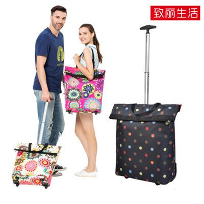 700bed5f9750 Zhili foldable shopping bag tug travel organizer portable bag shopping  trolley Cart bag Collapsible