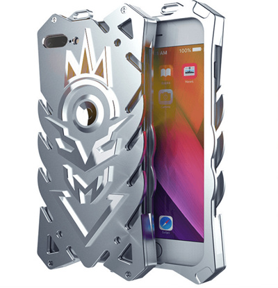 new style 7469b 29a8e Zimon Armor II Aviation Metal Phone Case For Iphone 6 6s 7 8 plus Powerful  Outdoor Case